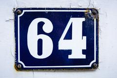 Number sixty four - stock photo