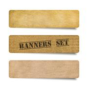 collection of paper banners - stock illustration