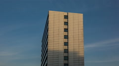 Hamburg old office building in the evening with shadow running - DSLR hyperlapse Stock Footage