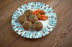 fiesta meatballs - stock photo