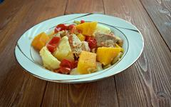Andalusian gypsy stew Stock Photos