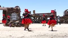 folklore dancer bolivia - stock footage