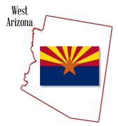 West arizona Stock Illustration