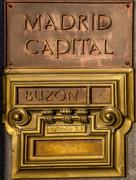 post office box in madrid - stock photo