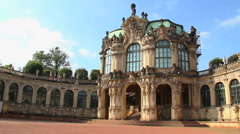 German Rococo Royal Palace timelapse, tourists attraction place - stock footage
