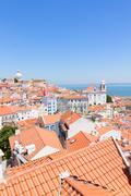 View of Alfama, Lisbon, Portugal Stock Photos