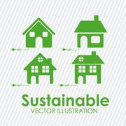 sustainable design over white background vector illustration - stock illustration