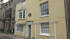 Jane austen house commemorative plaque, winchester, england Stock Footage