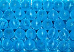 Blue bio balls Stock Photos