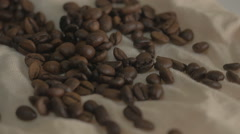 Roasted coffee beans Stock Footage