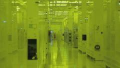 Revealing slider shot of a Semiconductor manufacturing plant Stock Footage