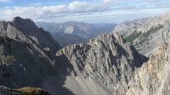 Alpine sharp mountain peaks 4K Stock Footage