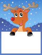 Reindeer theme image - illustration. Stock Illustration