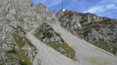 Timelapse gondola ride up to Hafelekar mountain peak Stock Footage