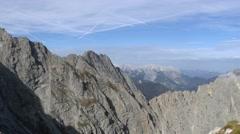 Alpine mountain range Stock Footage