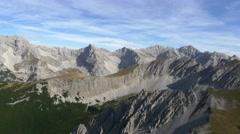 Beautiful alpine mountain range scenery in 4K Stock Footage