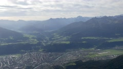 Aerial of Innsbruck and surrounding valley Stock Footage
