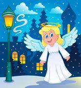 Image with angel - illustration. Stock Illustration