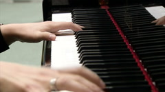 hands with ring and piano keys - stock footage