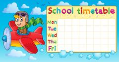 School timetable thematic image - illustration. Piirros