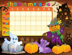 School timetable topic image - illustration. Stock Illustration