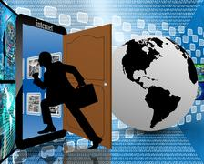 Stock Illustration of entrance to the internet