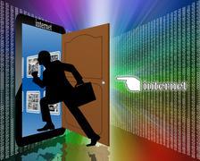 entrance to the internet - stock illustration