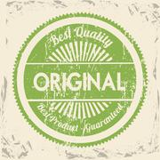 Best quality seal over vintage background vector illustration Stock Illustration
