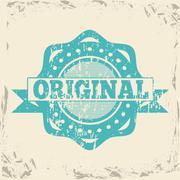 Original seal over vintage background vector illustration Stock Illustration