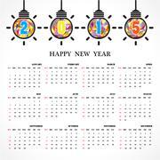 calendar 2015 design template week starts sunday. - stock illustration