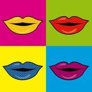 Mouth design over colrful background vector illustration Stock Illustration