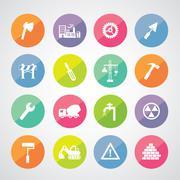 Construction team  icon Stock Illustration