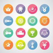 trophy and awards symbol - stock illustration