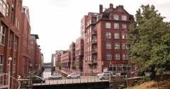 Hamburg Altstadt Establishing Shot Residential Apartments Buildings Architecture Stock Footage