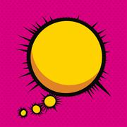 imagination comics icon over pink  background vector illustration - stock illustration