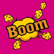 Boom comics icons  over colorful  background vector illustration Stock Illustration