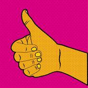Comics ok icon over doted orange background vector illusttration .. Stock Illustration