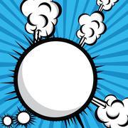Imagination comics icon over blue  background vector illustration Stock Illustration