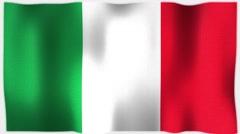 4K 3D Animation of Italy, Italian Whole Flag Canvas Texture Stock Footage