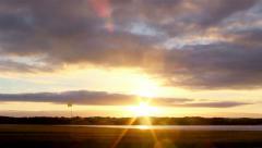 Algarve Ria Formosa QDL Golfe Course Sunset Timelapse Stock Footage
