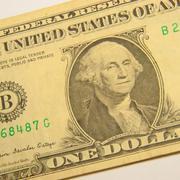 george washington - one dollar - stock photo