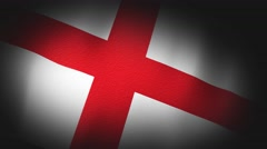 4K 3D Animation of England English Flag Closeup Canvas Texture Stock Footage
