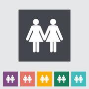 Lesbian sign Piirros