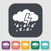 Storm icon - stock illustration