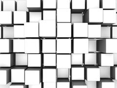 box abstract background - stock photo