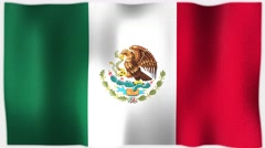 4K 3D Animation of Mexico / Mexican Whole Flag Canvas Texture Stock Footage