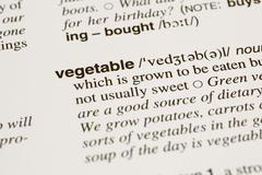 definition word vegetable in dictionary - stock photo