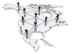 north america network - stock photo
