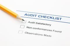 audit checklist - stock photo