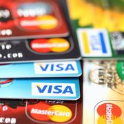 visa and mastercard - stock photo